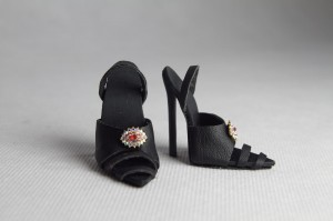 Popovy Sisters shoes - Black jewel high heeles
