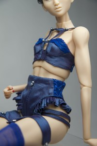 Inamorata - Blue Lingerie Set (small bust)